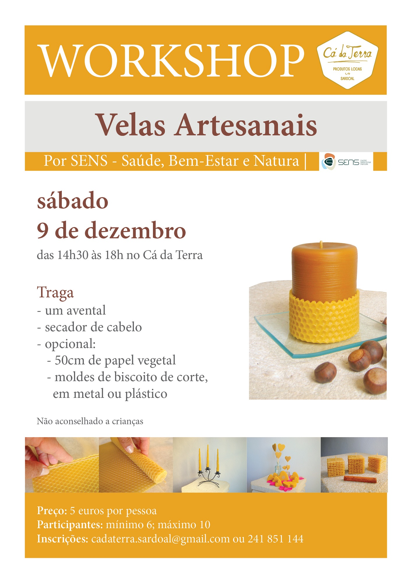 workshop velas artesanais 2017