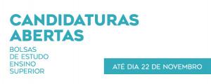 Bolsas de Estudo 2019/2020 - Candidaturas abertas