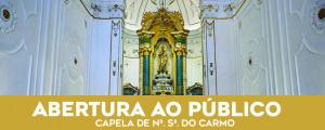 Capela de Nossa Senhora do Carmo de portas abertas depois de concluída a sua requalificação